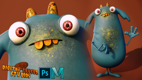 Creating a Cute Character in Maya and Photoshop