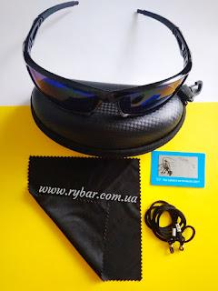 Поляризаційні сонце-захисні окуляри (сині 801)
