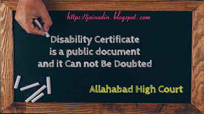 Disability-certificate
