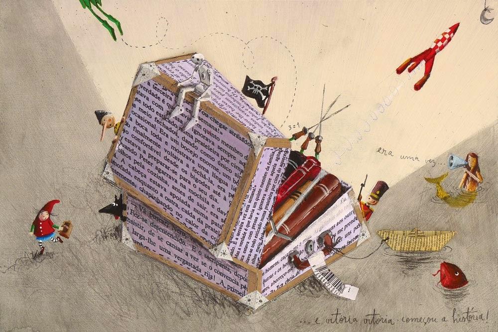 a188ae004 Maleta de contes per viatjar tot l'estiu. No s'oblidem de la lectura en  vacances (il·lustració de Paulo Galindro)