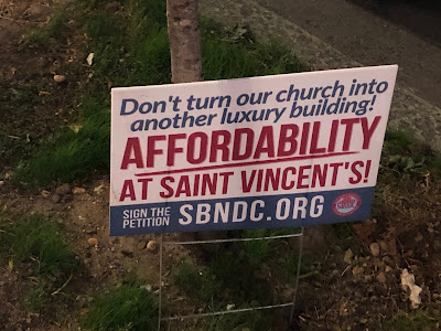Don't turn our church into another luxury building! Affordability at Saint Vincent's!