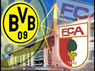 موعد مباراة بروسيا دورتموند وأوجسبورج والقنوات الناقلة بالدوري الألماني