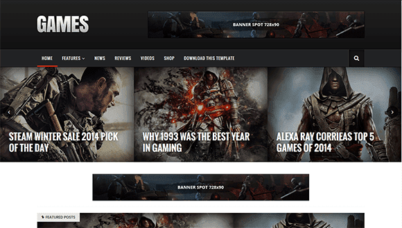 Sora Games mobile friendly blogger template free download