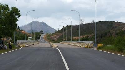 View dari jembatan 6 Barelang Batam