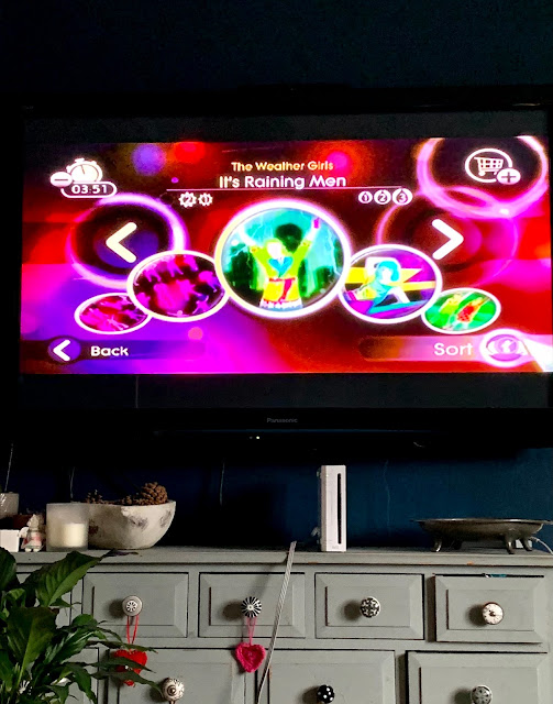 Just Dance on TV Wii