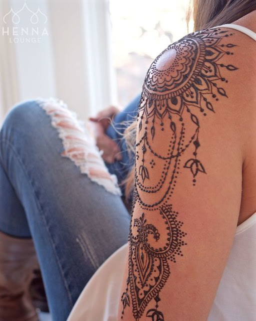 Sleeve Mandala Tattoo For Girls