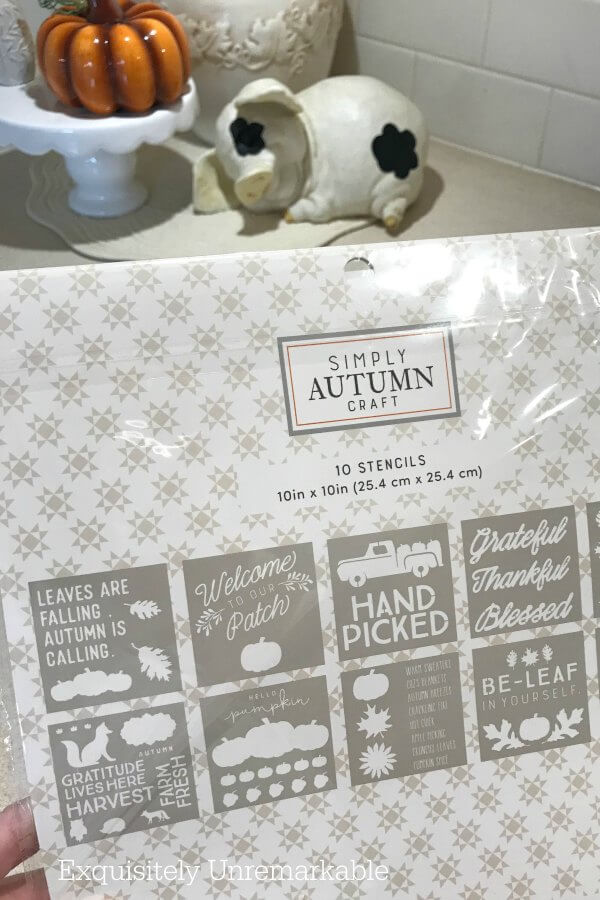 Fall Stencil Pack package displaying the included designs