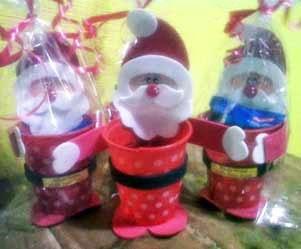 dulcero Papá Noel con vaso descartable