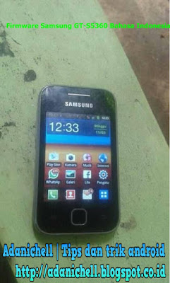 Firmware Samsung GT-S5360 Bahasa Indonesia