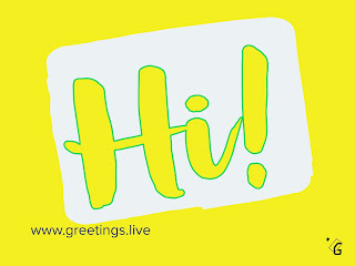 Yellow and white back ground Hi greetings Text Images HD