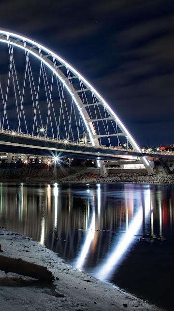 Bridge At Night Aesthetic Wallpaper
