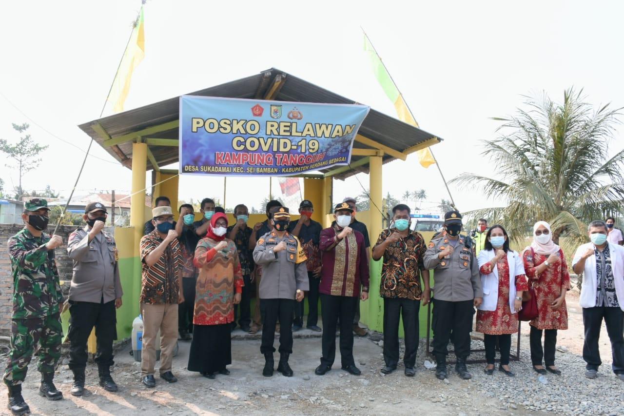 Bupati Bersama Kapolres Sergai Resmikan Kampung Tangguh