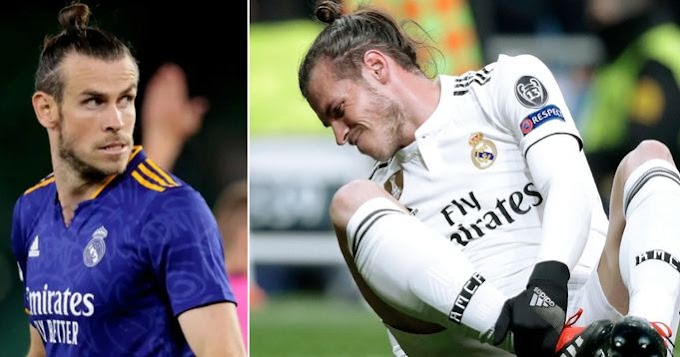 Bale Out has now missed over 100 games for Real Madrid due to injury