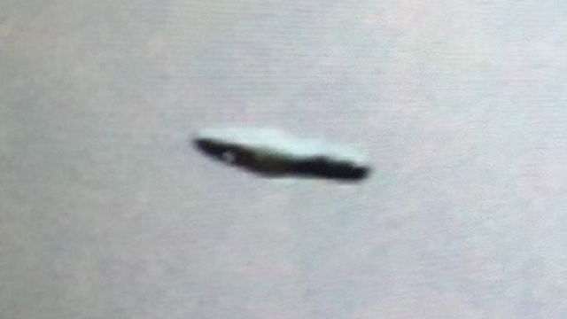 Amazing looking UFO seen by group of people.