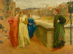 Dante y Beatriz en el Puente de la Santa Trinidad., Henry Holiday