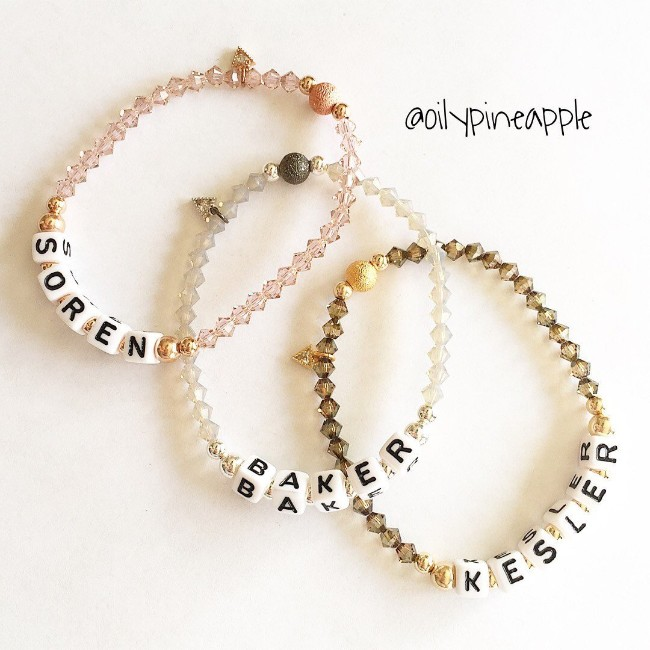 Oily Pineapple Personalized Bracelets