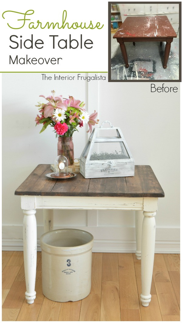Farmhouse Side Table Makeover
