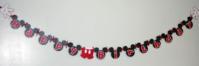 Kt Designs Birthday Series Mickey Mouse Banner