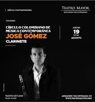 Concierto en el teatro mayor de bogotá. José Chepe Gómez.