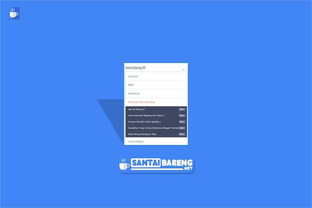 Cara Membuat Daftar Isi atau Sitemap Mode Buka Tutup