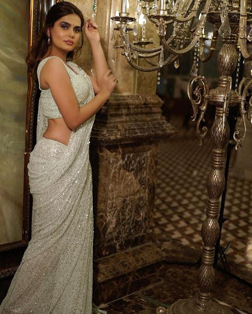 Actress Anupama Agnihotri Latest Photos in White Saree Navel Queens