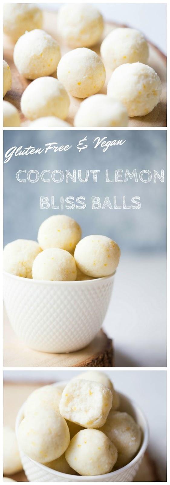 COCONUT LEMON BLISS BALLS