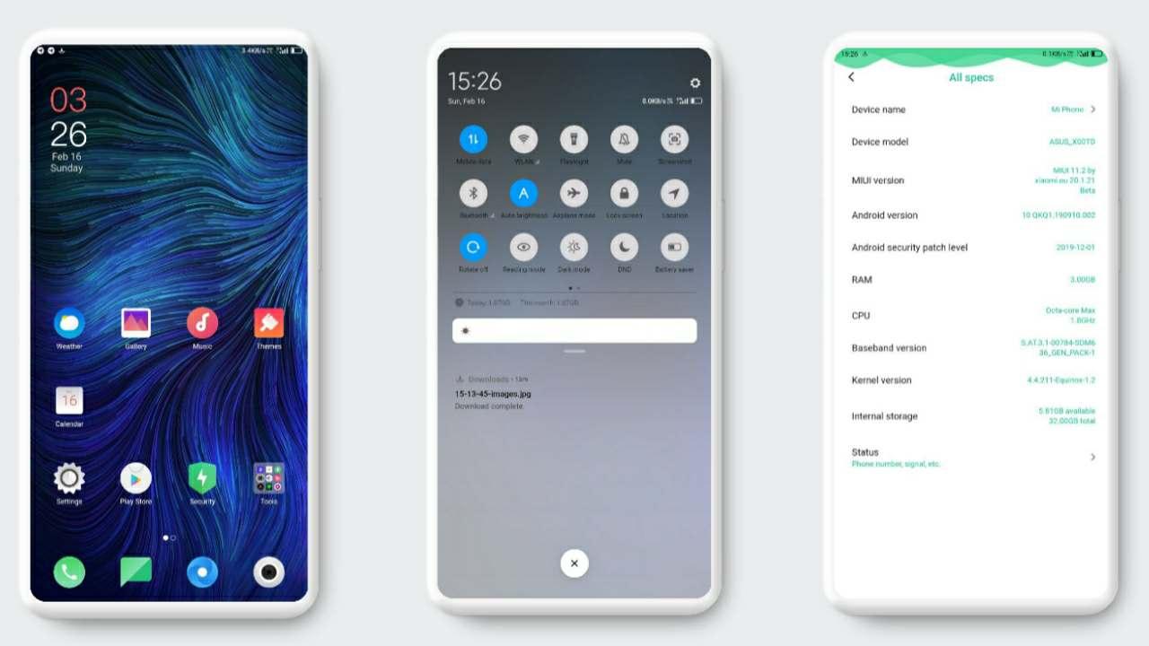 MIUI 11 Android 10 Max Pro M1