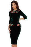 Rochie din Catifea Amara Verde