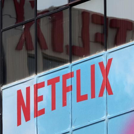 Logo da Netflix no escritório da empresa em Los Angeles