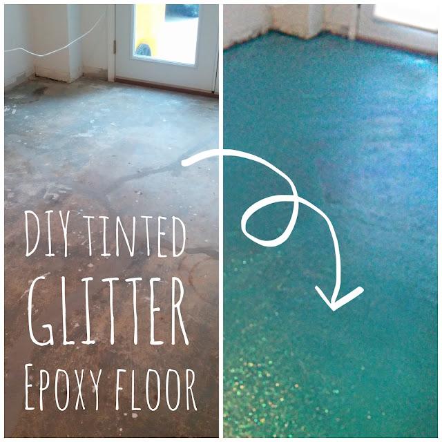 Lola, Tangled: DIY Turquoise Glitter Epoxy Floor