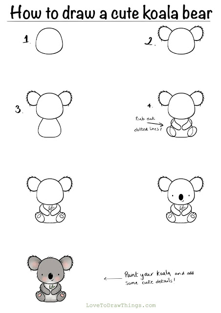 Easy animals to draw. Step by step drawing tutorial. Beginner drawing tutorial