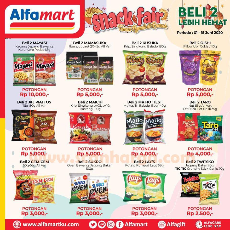 Promo Alfamart Snack Fair Beli 2 Lebih Hemat 1 - 15 Juni 2020