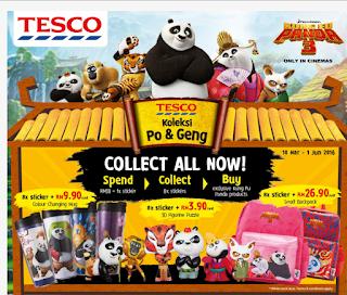 Kumpul Koleksi Po & Geng di Tesco Stores