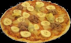 Pica su tunu ananasais ir bananais