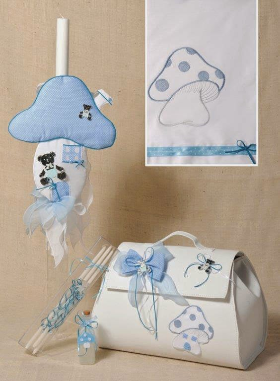 Mushroom themed christening set SAE126