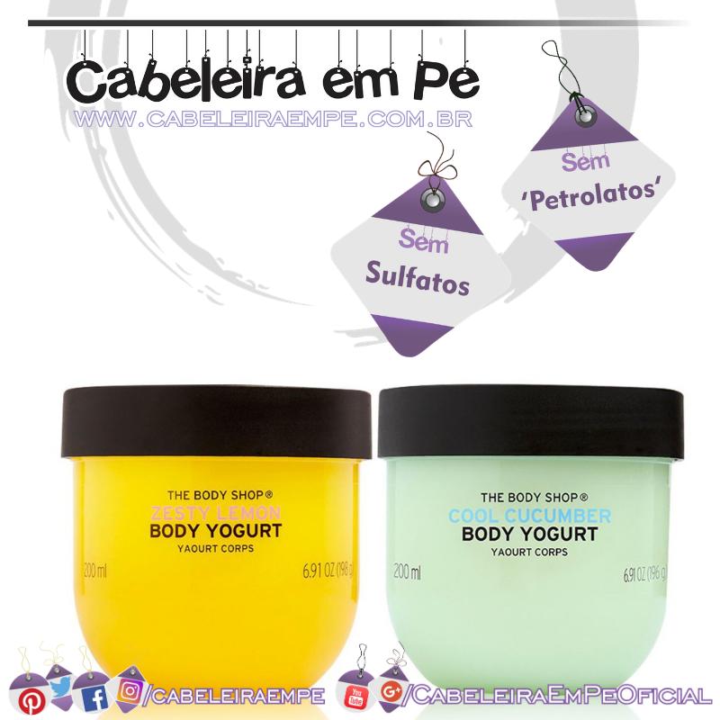 Body Yogurt (versões Pepino Refrescante e Limão) - The Body Shop