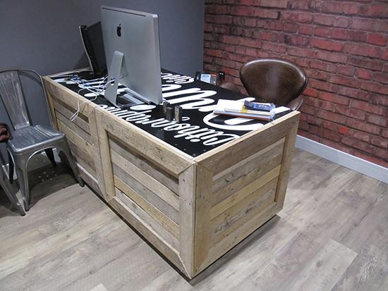 desain meja minimalis dari palet bekas