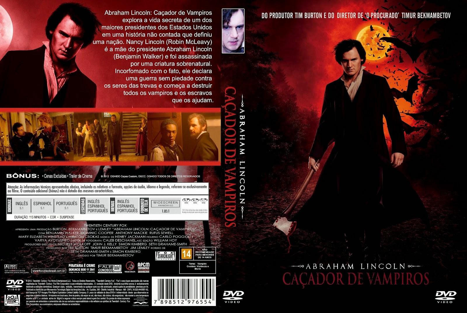 Abraham Lincoln: Caçador de Vampiros DVD Capa