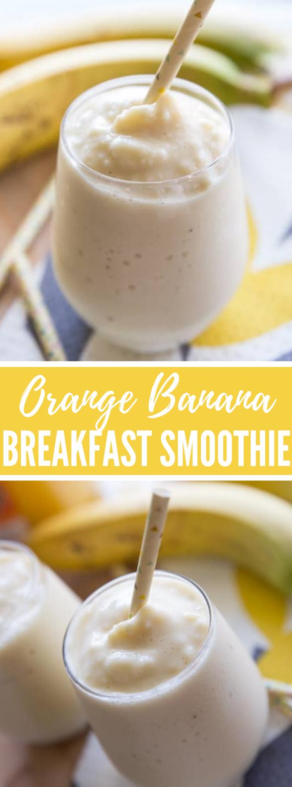 ORANGE BANANA BREAKFAST SMOOTHIE #drink #healthy