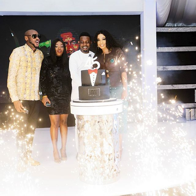Nigerian celebrity attended Comedian AY's birthday party (Photos)