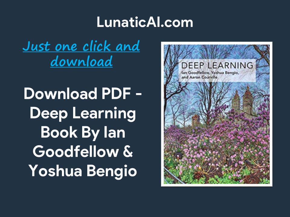 Deep Learning (Adaptive Computation and Machine Learning series) PDF