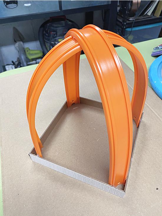 car track arched lantern