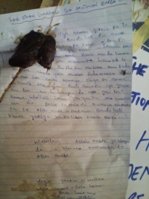 """""""Last Warning""""-Students Flee as Boko Haram sends bloody letter to Adamawa State University(Photo"""