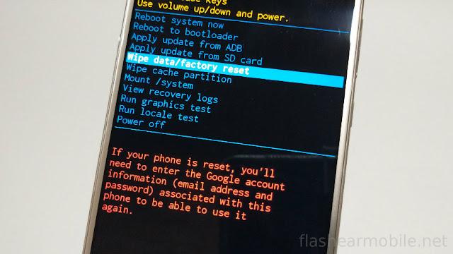 Procedimiento para resetear un Huawei con menú Recovery