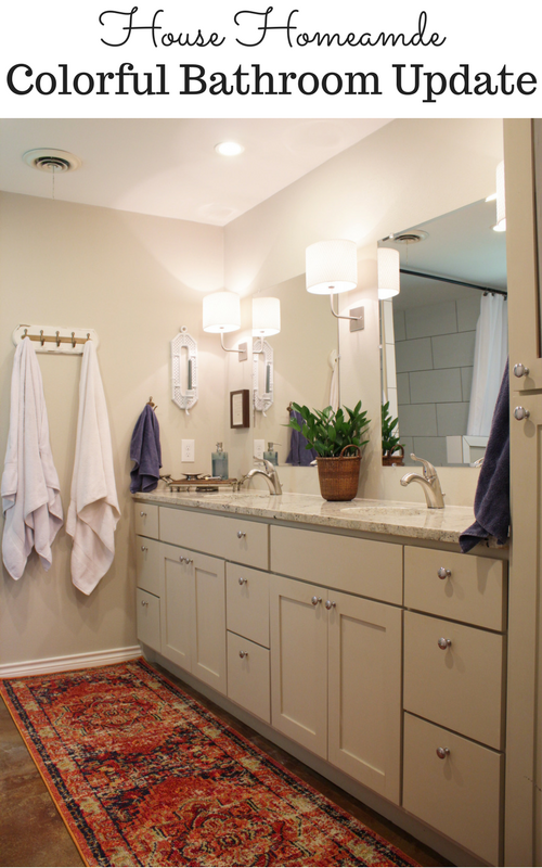 Colorful Update to Neutral Bathroom   House Homemade