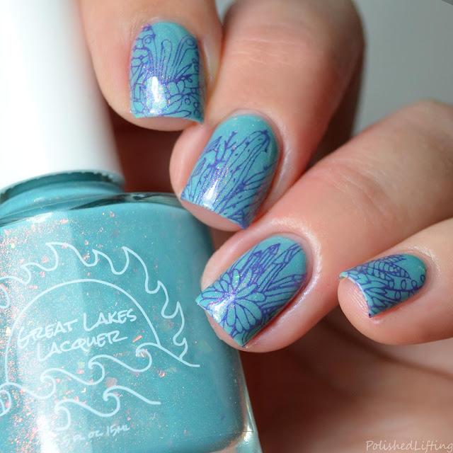 succulent & crystal nail art