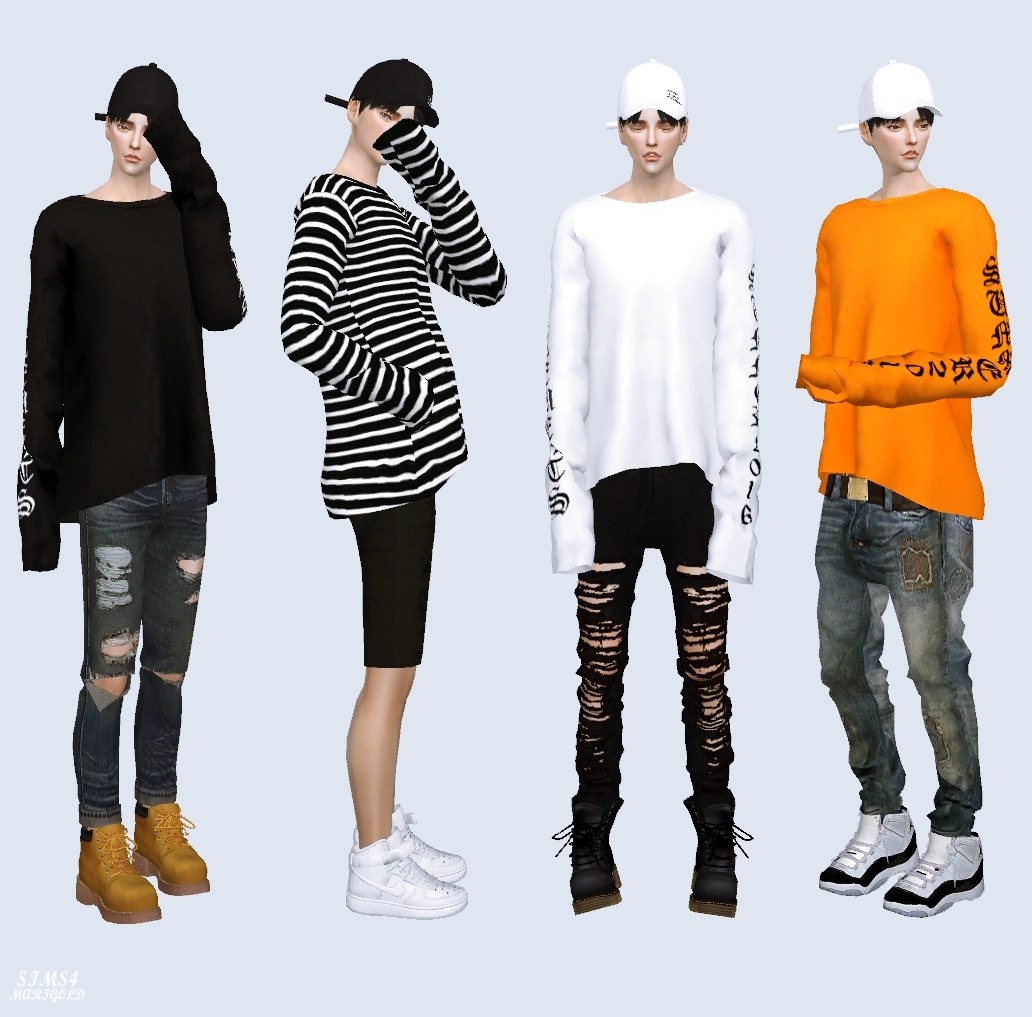 My Sims 4 Blog: Clothing and Caps for Males and Females by ...