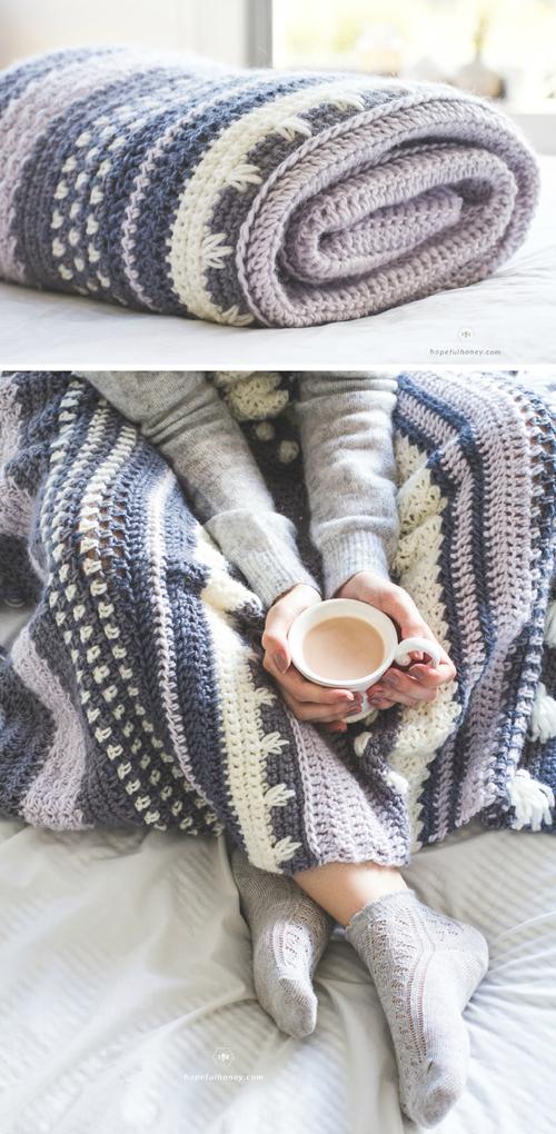 Winter Tempest Blanket - Free Crochet Pattern