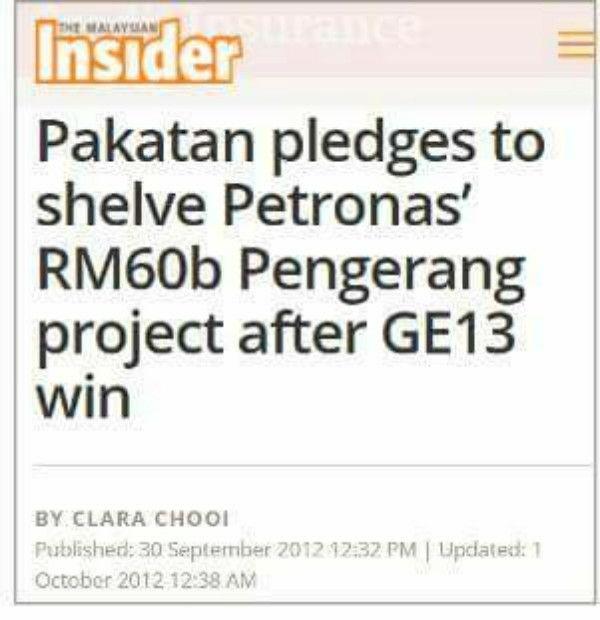 Pelaburan Aramco dalam RAPID Pengerang Bakal Meletakkan Malaysia Sebagai Peneraju Industri Petro-kimia Asia - Pakatan Berusaha Gagalkan