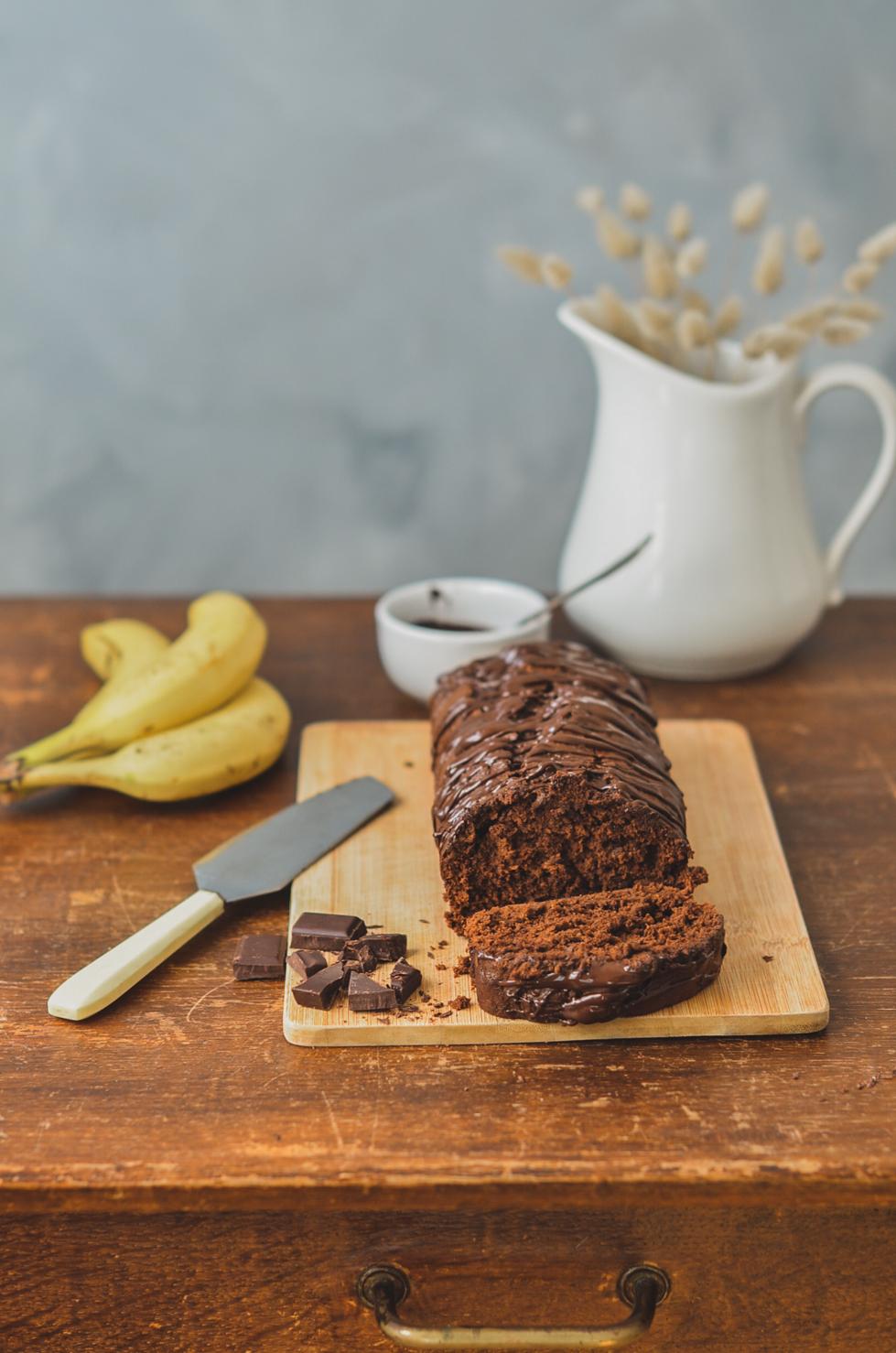 Cake Chocolat banane Vegan et healthy